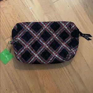 NWT Vera Bradley Large Cosmetic Bag (Minsk Plaid)